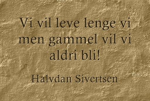 Sitat Halvdan Sivertsen